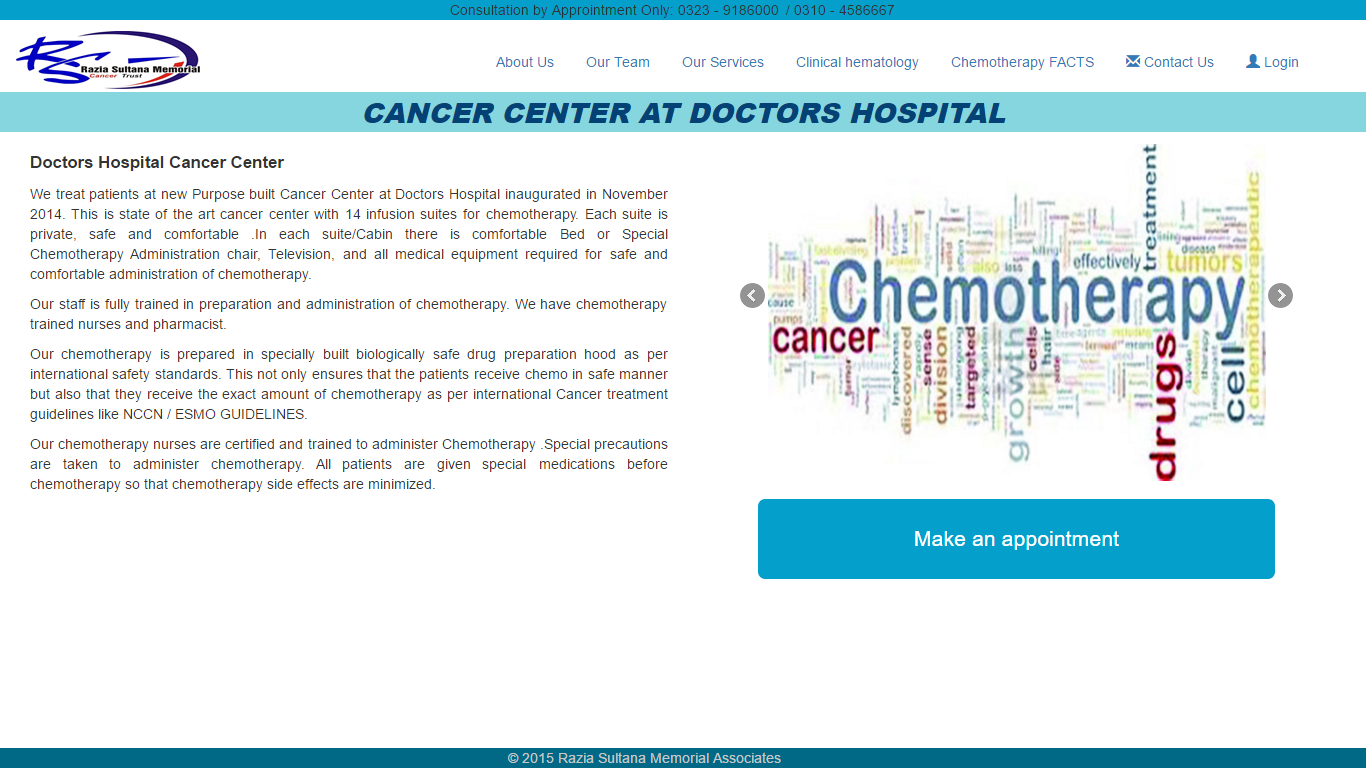 Cancer Center Patient Treatment History